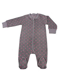 Baby girls fleece sleepsuit