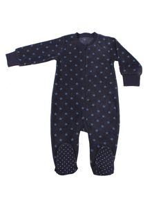 Minene Baby boys fleece sleepsuit