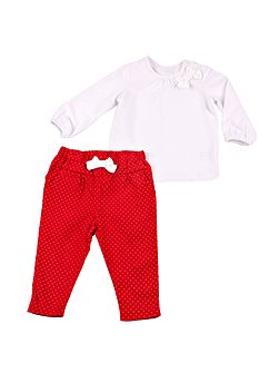 Girls top and trouser set