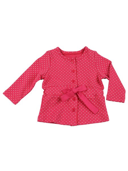 Minene Baby girls cotton cardigan with tie