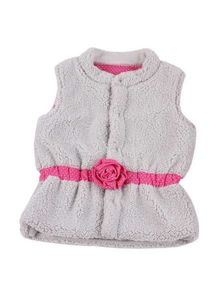 Minene Girls vest with cotton rosette