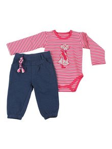 Baby girl bodysuit and trouser outfit