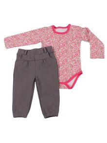 Minene Baby girl bodysuit and trouser outfit