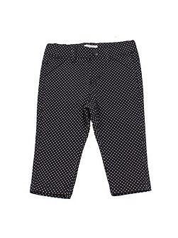 Baby girls cotton polkadot trousers