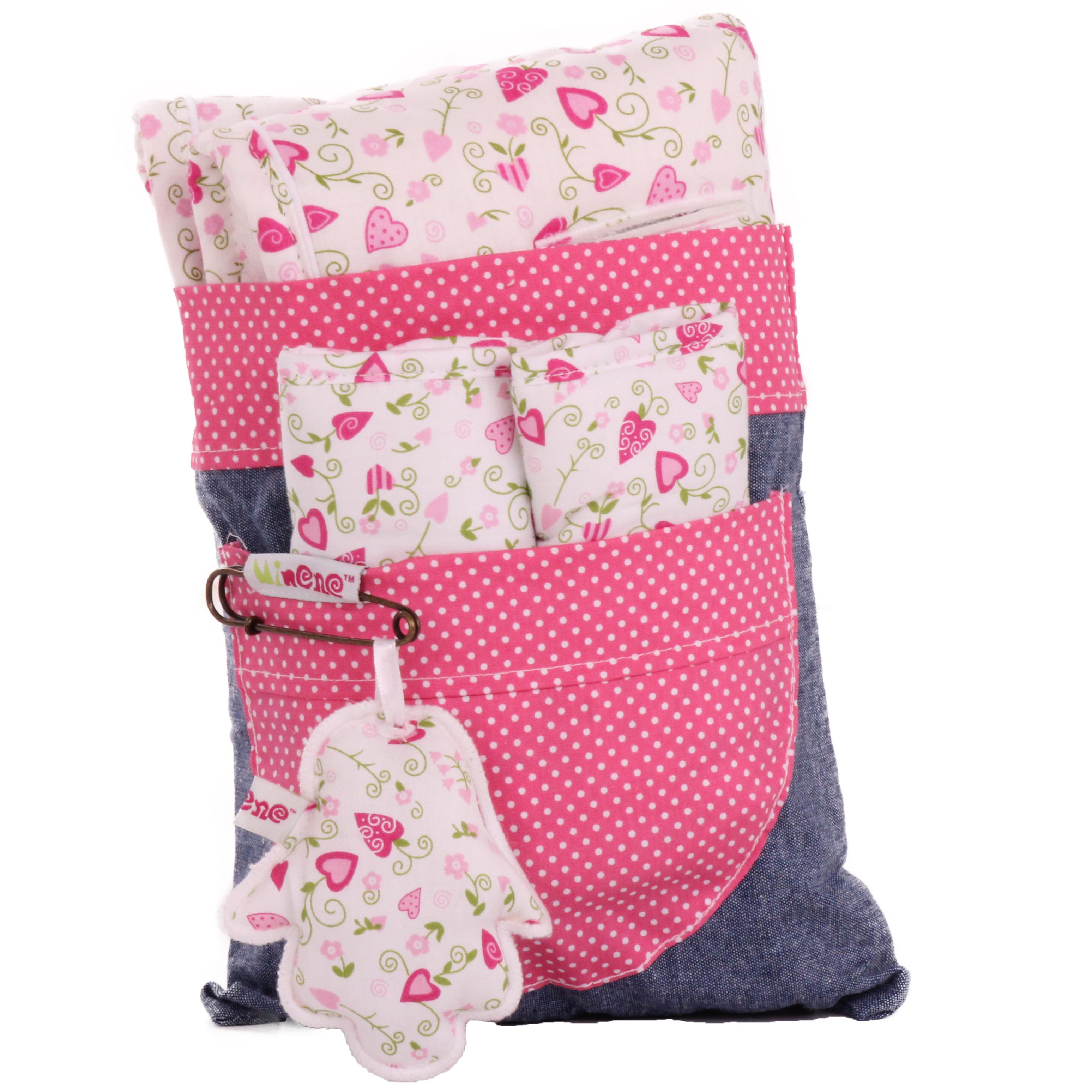 Reversible liner and safety strap set
