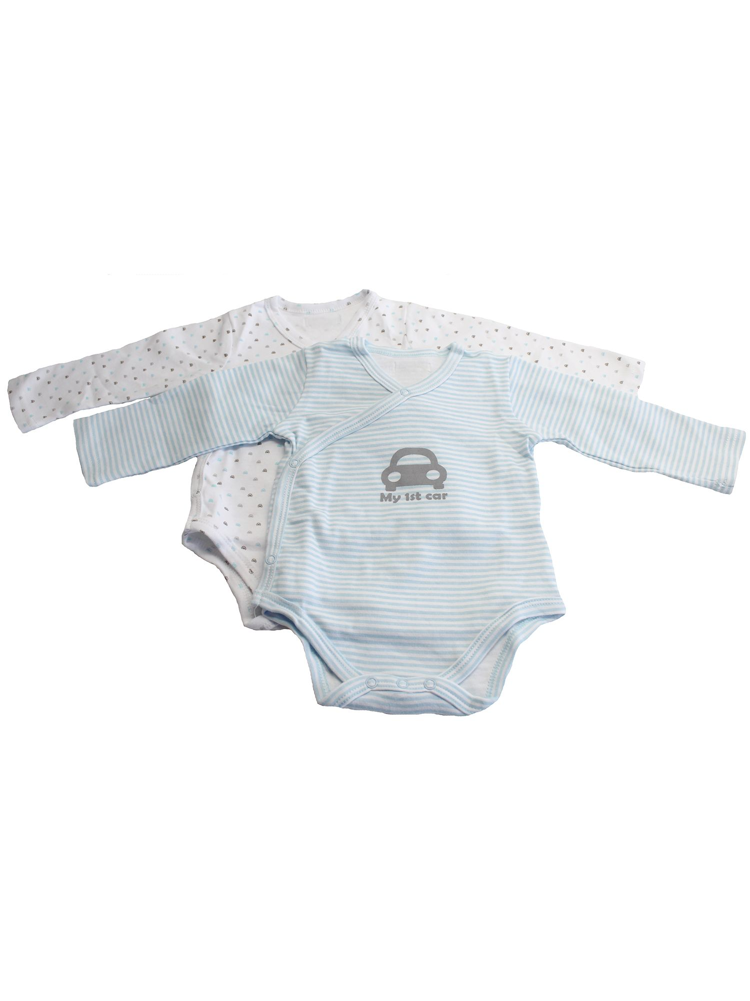 Boys wraparound bodysuit set - cars