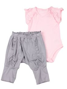 Girls bodysuit and haram trousers set