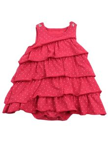 Girls frilly dress with bodysuit