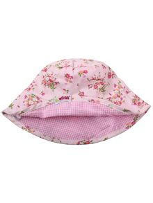 Girls 100% cotton sunhat