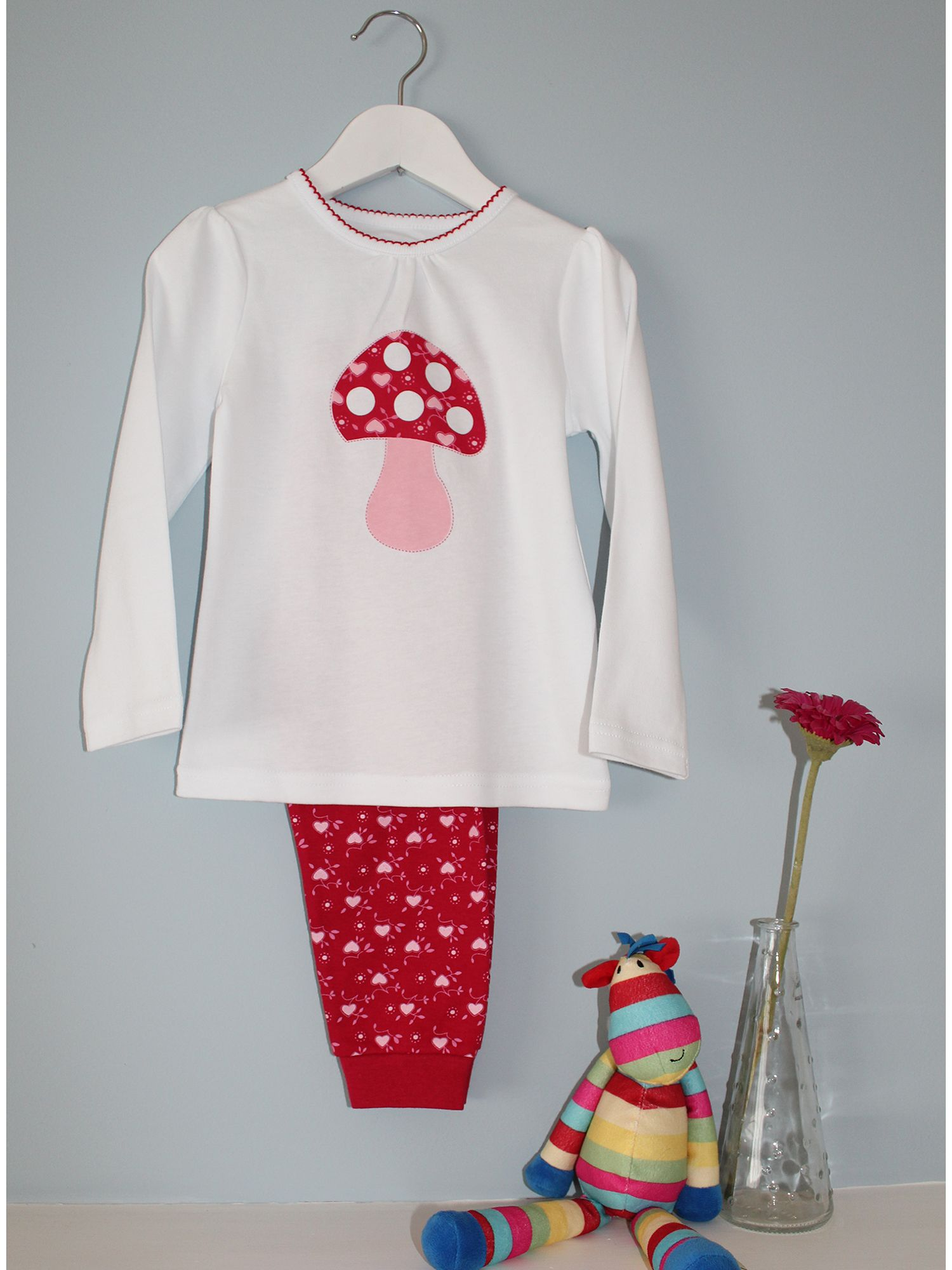 Girl`s toadstool pyjamas