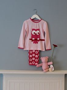 Girl`s owl pyjamas