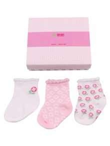 Girls newborn baby sock box