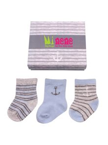 Minene Boys newborn baby sock box