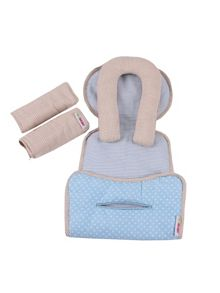 Minene Car Seat Liner, Headrest & Strap Set