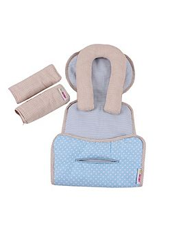 Car Seat Liner, Headrest & Strap Set