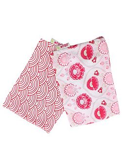 Girls Set of 2 Swaddling Muslins
