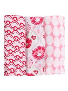 Minene Girls 3 Pack Of Soft Cotton Mulin