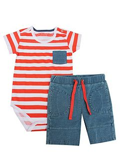 Boys Bodysuit & Shorts Set