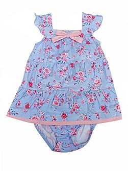 Lily Flower Dress with Bloomers