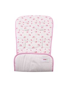 Minene Cream Flowers Pushchair Liner