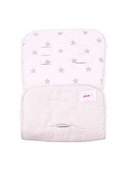 Cream Stars Pushchair Liner