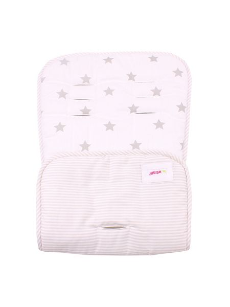 Minene Cream Stars Pushchair Liner