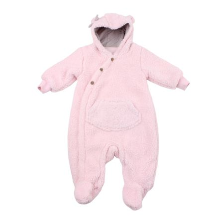Minene Girls Pink Fleece Romper