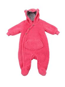 Minene Girls Fuchsia Fleece Romper
