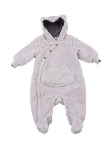 Minene Boys Navy Fleece Romper