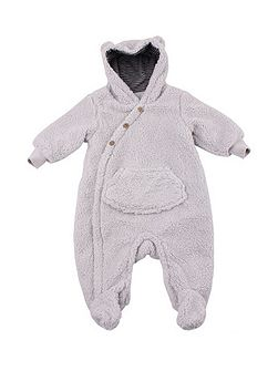 Boys Navy Fleece Romper