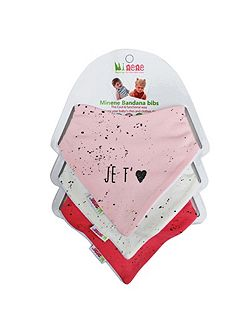 Baby Girls Bandana Bib Set