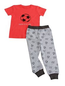 Minene Boys Red Football Summer Pyjamas