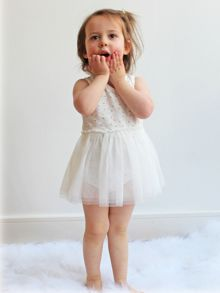 Minene Girls Bodysuit Tutu Dress