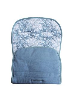 Blue Floral Pushchair Liner
