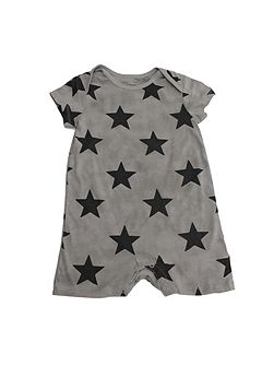 Unisex Grey Star Romper