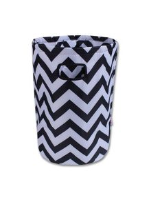 Minene Black & White Chevron Laundry Basket