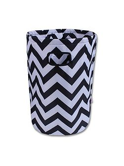 Black & White Chevron Laundry Basket