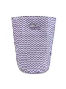 Minene Grey & White Chevron Laundry Basket