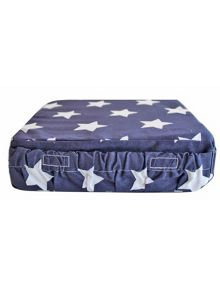 Minene Navy Star Booster Cushion