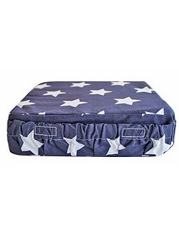 Navy Star Booster Cushion