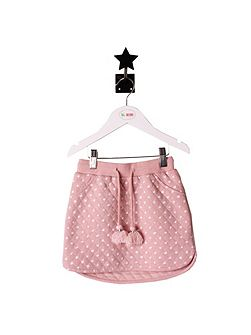 Girls Pale Pink Star Skirt
