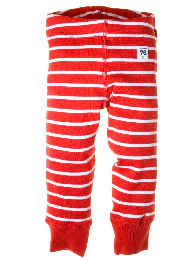 Baby stripe extendable leggings