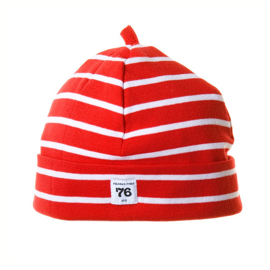 Kid`s stripe beanie hat