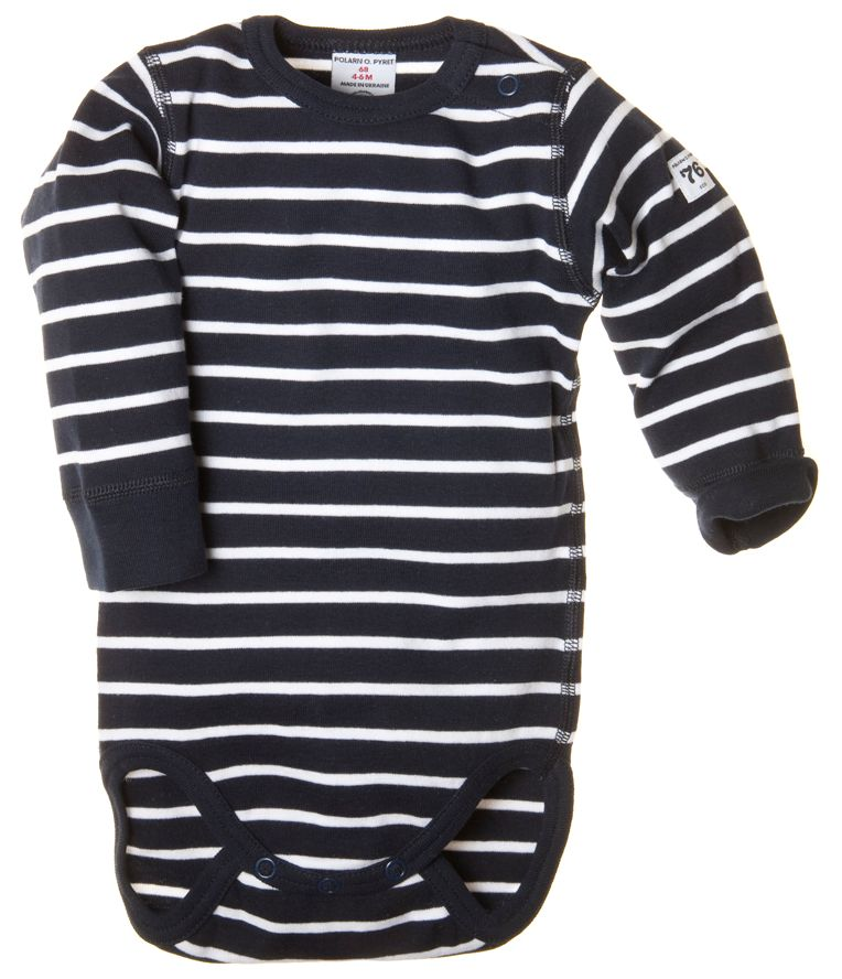 Stripe long-sleeved bodysuit