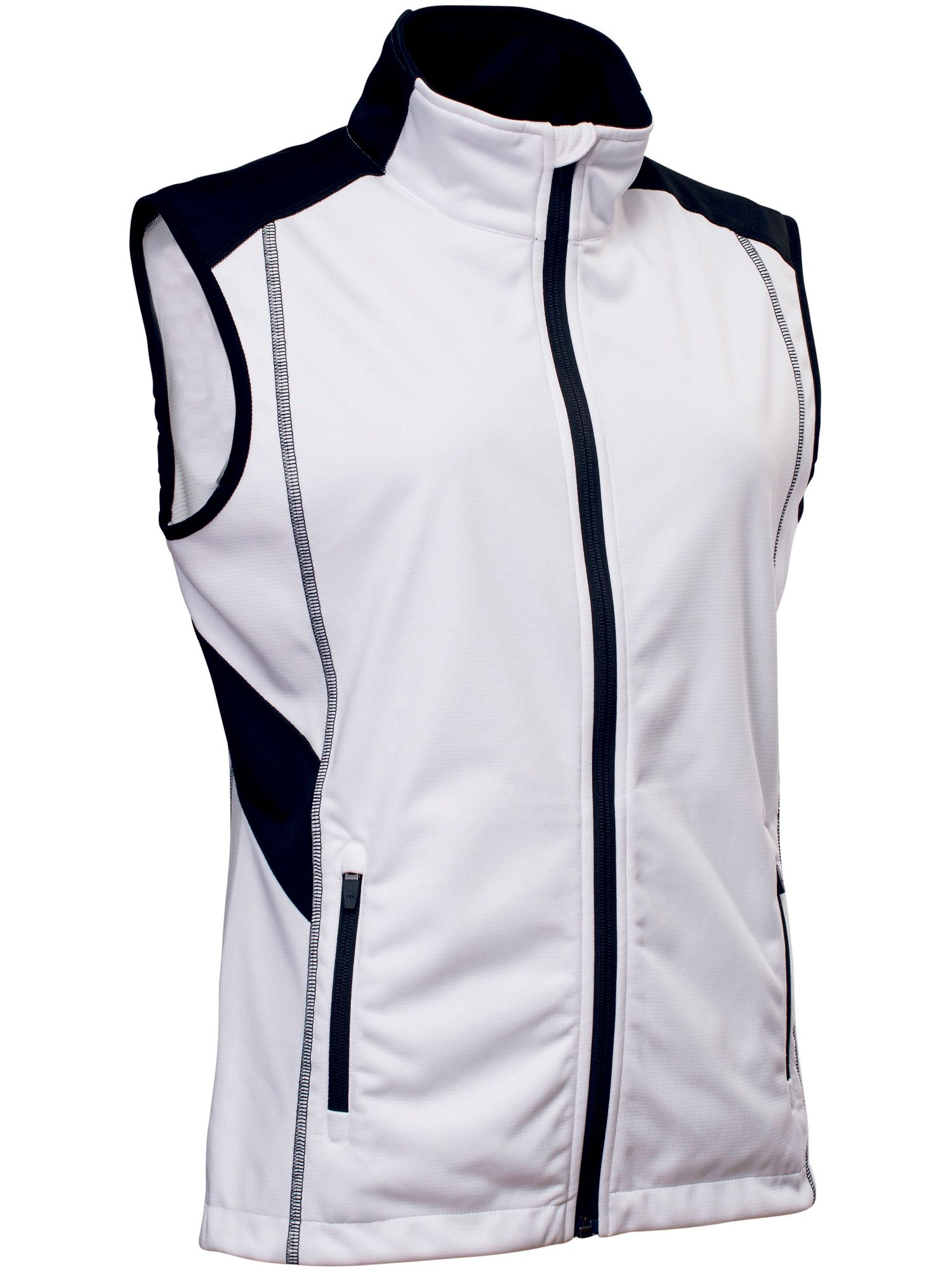 Abacus Aberdeen Softshell Gilet, White