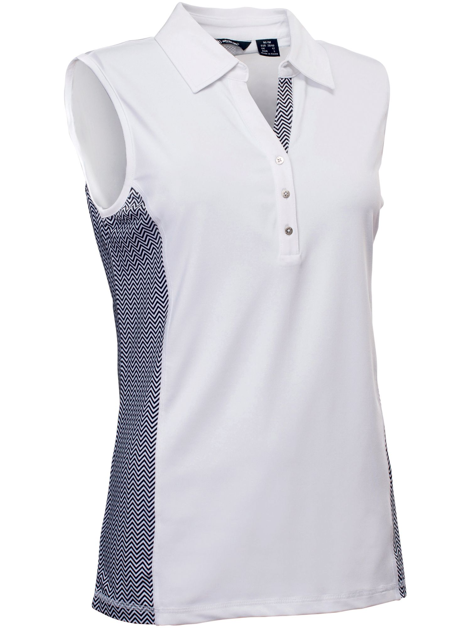 Abacus Karin Sleeveless Polo, White