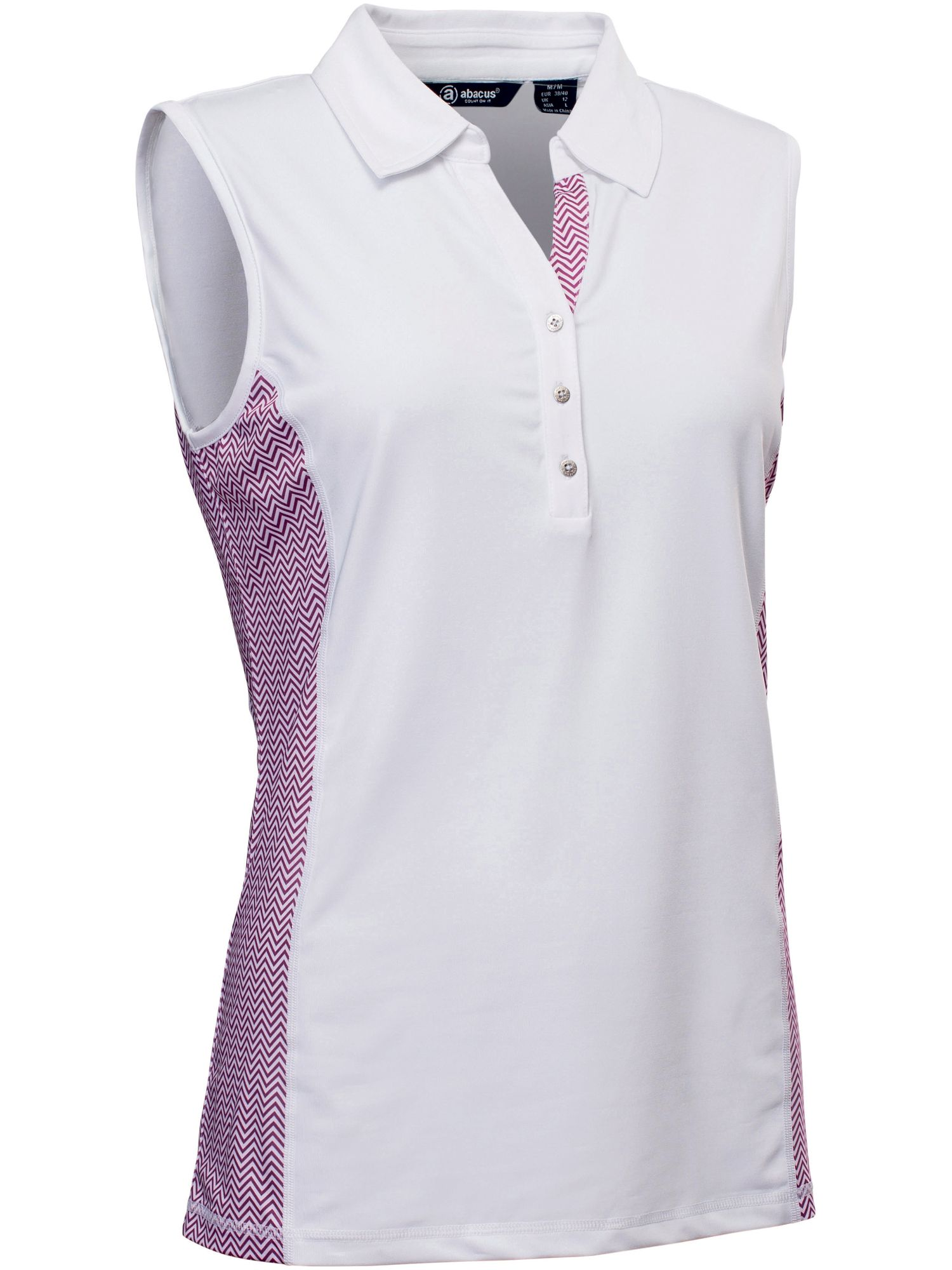 Abacus Karin Sleeveless Polo, Purple