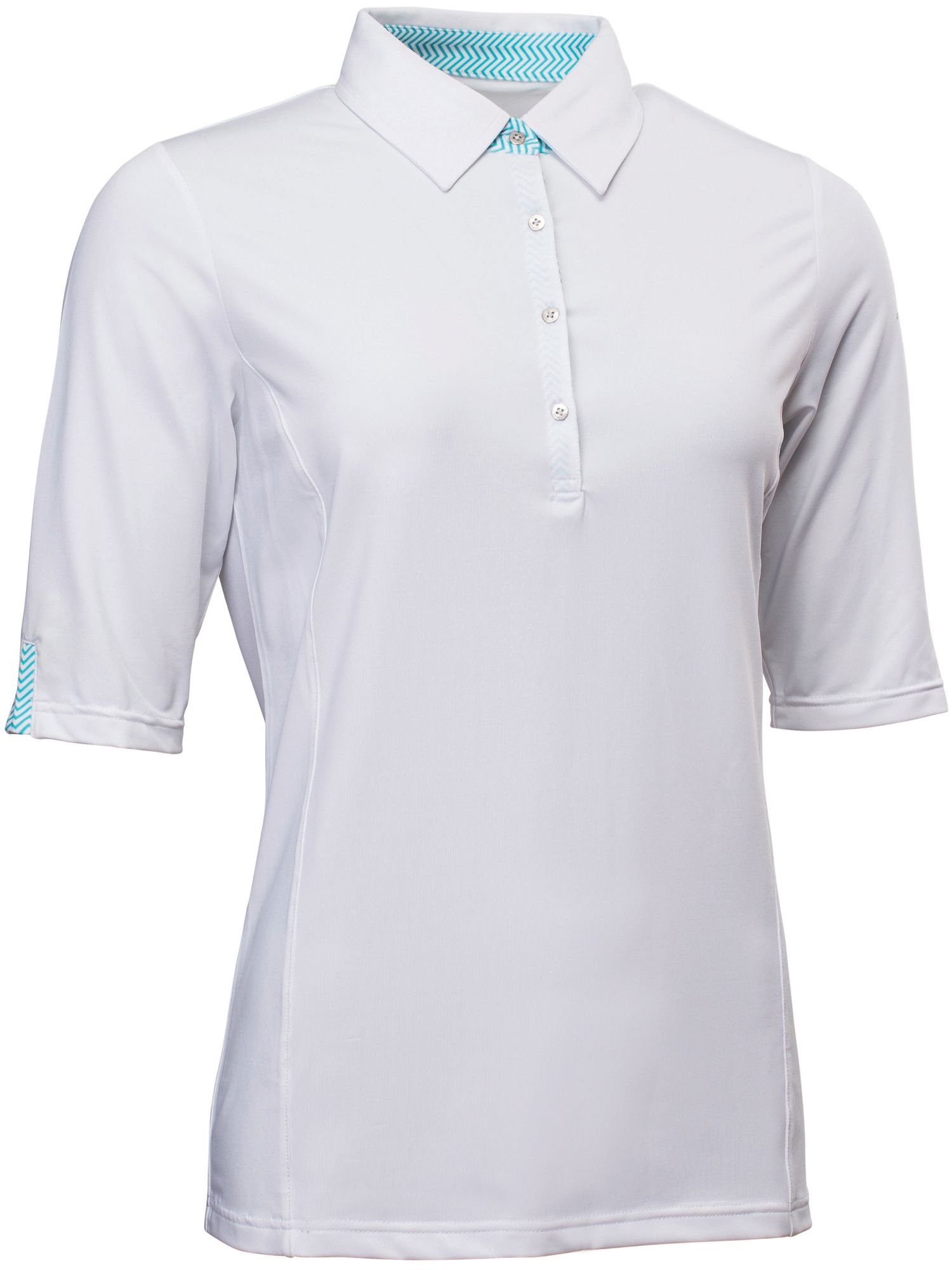 Abacus Karin 12 Sleeve Polo, White