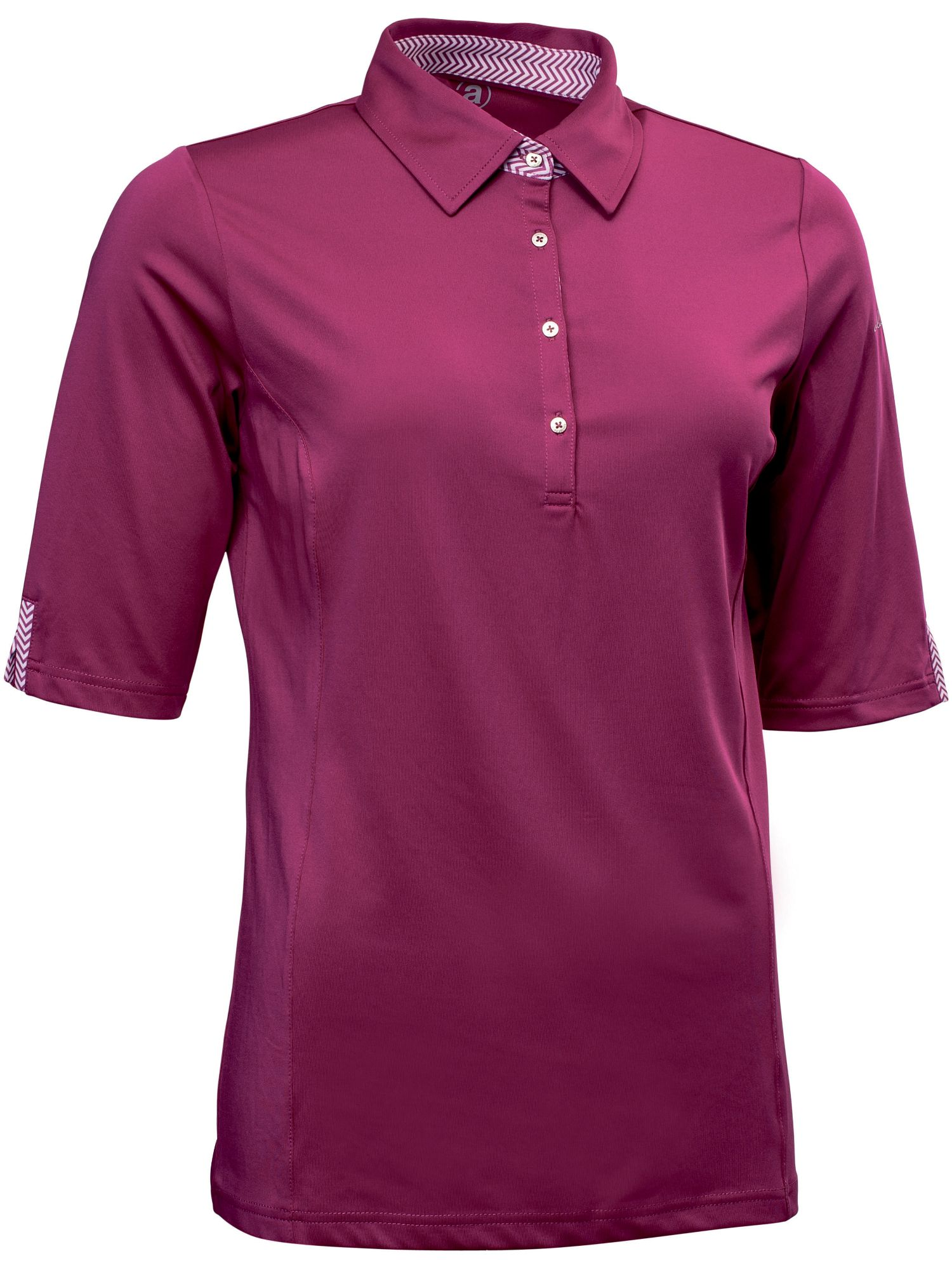 Abacus Karin 1/2 Sleeve Polo, Purple