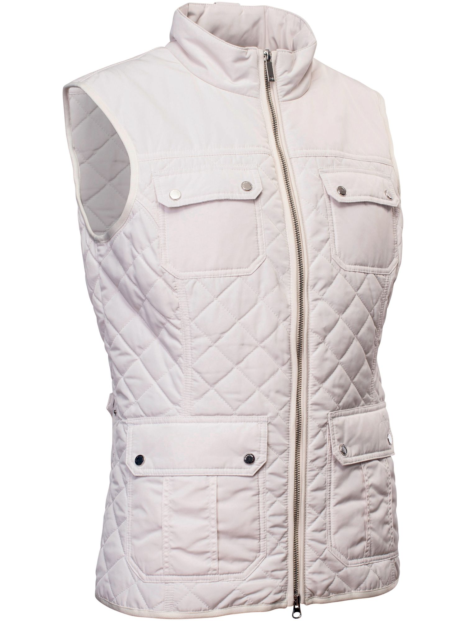 Abacus Holmen Quilted Gilet, White